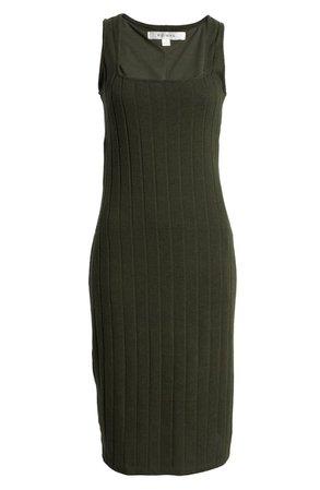 Row A Rib Midi Dress | Nordstrom