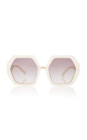 Valentino Sunglasses Octagon-Frame Acetate Sunglasses
