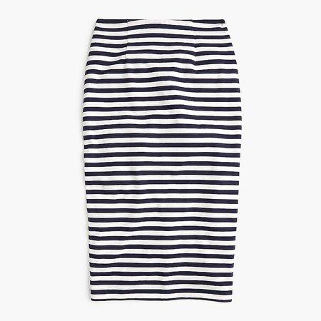 J.Crew: Knit Pencil Skirt In Stripe For Women