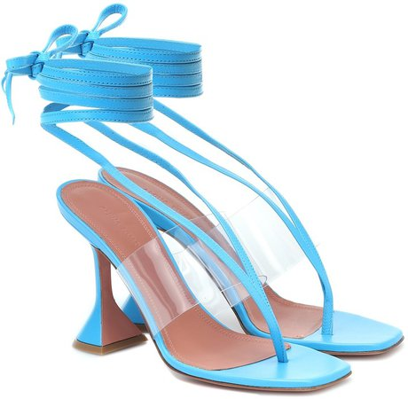 Zula PVC-trimmed leather sandals