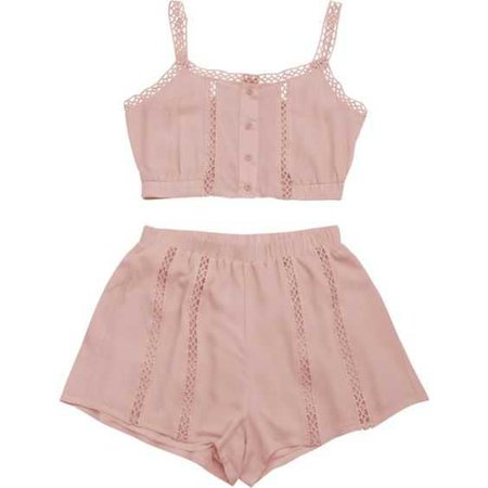 pink top and bottom set