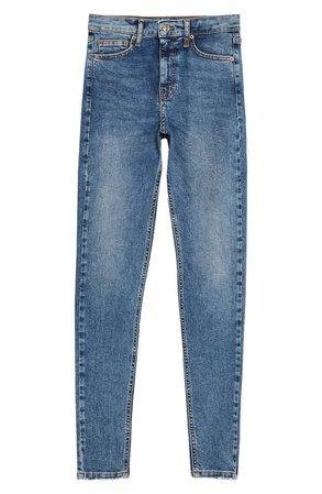 Topshop Jamie Fray Hem High Waist Skinny Jeans (Regular, Petite & Long) | Nordstrom