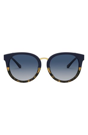 Tory Burch 53mm Phantos Round Sunglasses | Nordstrom