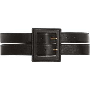 Wide Leather Waist Belt  PNG