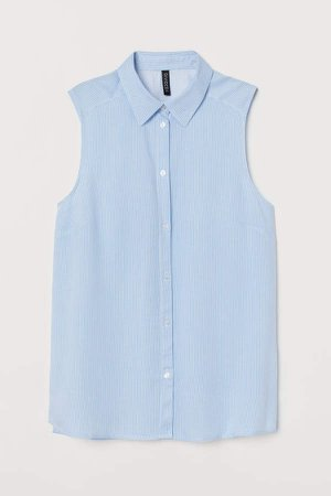 Sleeveless Blouse - Blue