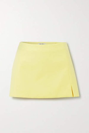 The Cotton-blend Mini Skirt - Yellow