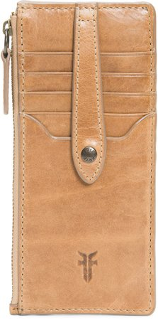 Slim Leather Snap Card Wallet