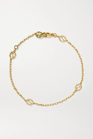 Gold 18-karat gold bracelet | Gucci | NET-A-PORTER