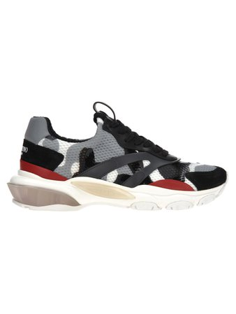 Valentino Valentino Valentino Low Top Bounce Sneakers - GREY RED - 10817002 | italist