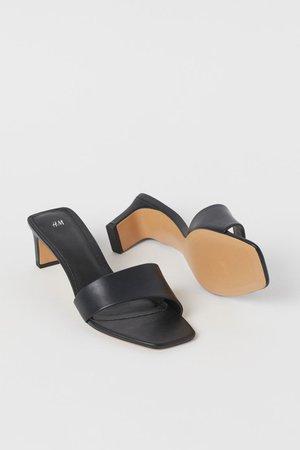 Slip-in Sandals - Black - Ladies | H&M US