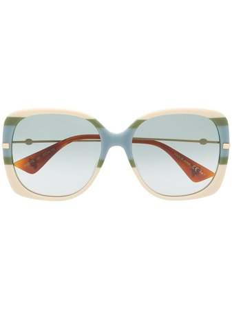 Gucci Eyewear Bee Detail square-frame Sunglasses - Farfetch