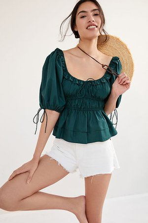 Puff-Sleeved Blouse | Anthropologie