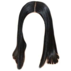 short black hair png dark brown