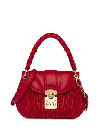 Miu Miu Matelassé Leather Mini Bag - Farfetch