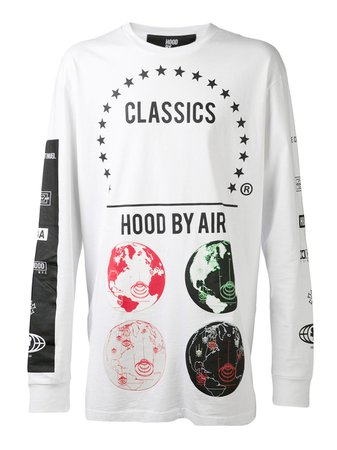 Lyst - Hood By Air Globes Print Tshirt in White for Men