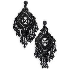 (54) Pinterest - Women's Kate Spade New York Lace It Up Statement Earrings ($69) ❤ liked on Polyvore featuring jewelry, earrings, black mult   My Polyvore Finds