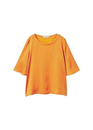 MANGO Contrasting design T-shirt