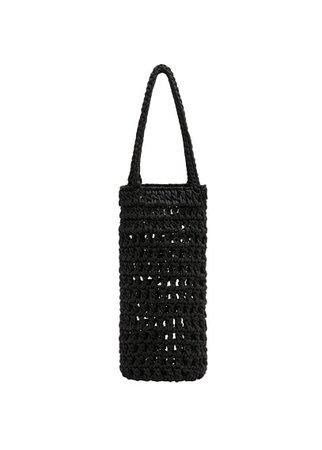 MANGO Crochet mini bag