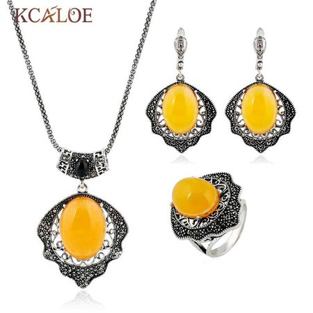 yellow necklace sets - Google Search