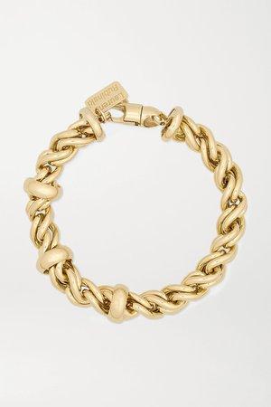 Gold Medium 14-karat gold bracelet | Lauren Rubinski | NET-A-PORTER