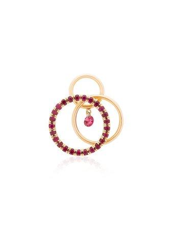 Persée 18kt gold Tri Circle hoop earring - Farfetch