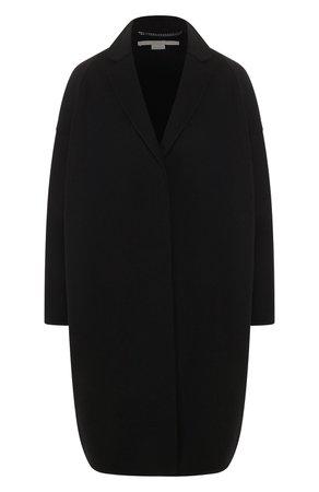 Женское черное шерстяное пальто STELLA MCCARTNEY — купить за 134000 руб. в интернет-магазине ЦУМ, арт. 573928/SMB09