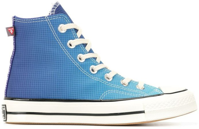 Grid Gradient Hi-Top Sneakers