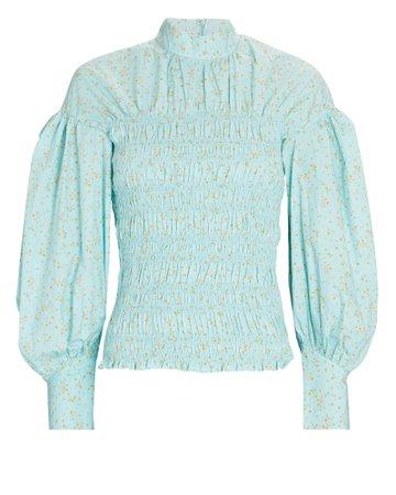 GANNI Floral Cotton Blouse | INTERMIX®