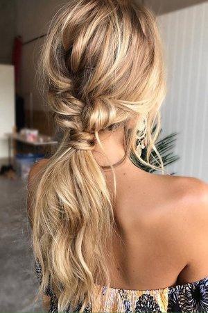 Low Blonde Ponytail