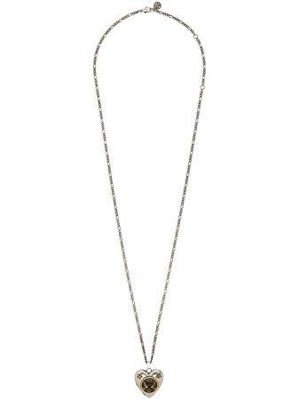 Alexander McQueen Heart Pendant Locket Necklace - Farfetch