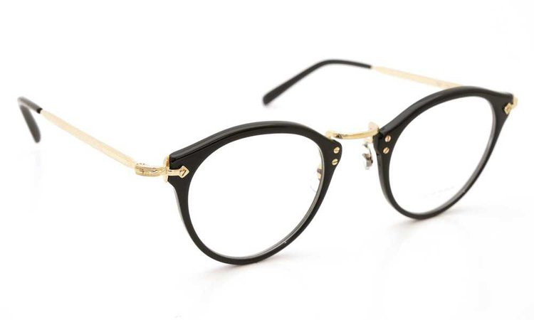 glasses with gold