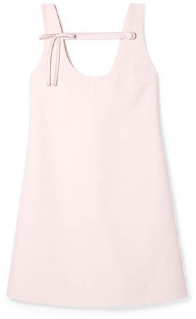 Bow-detailed Cady Mini Dress - Pastel pink