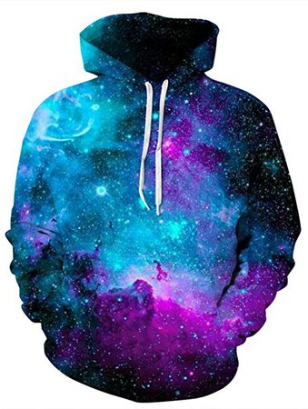 Amazon.com: Uideazone Plus Size Men 3D Galaxy Outer Space Graphics Hoodie Sweatshirt with Pockets: Clothing