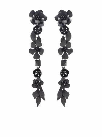 Valentino Garavani floral drop earrings - FARFETCH