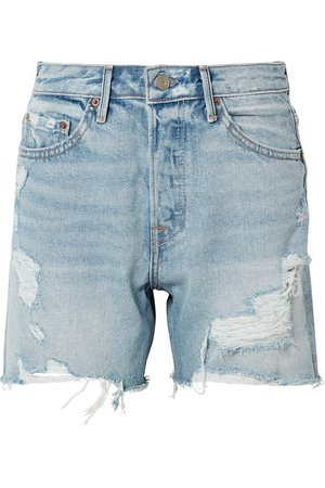 GRLFRND   Jourdan distressed denim shorts   NET-A-PORTER.COM