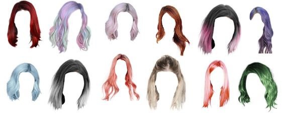 Wigs/Color hair set of 12