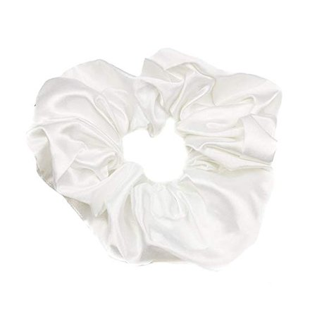 Mytoptrendz® Plain White Satin Hair Scrunchie Bobble bun holder hair band scrunchies for Ponytail Holder Elastic: Amazon.co.uk: Beauty