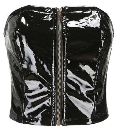 black top with zipper