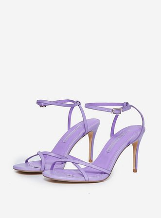 Lilac 'Safira' Strappy Heeled Sandals | Dorothy Perkins