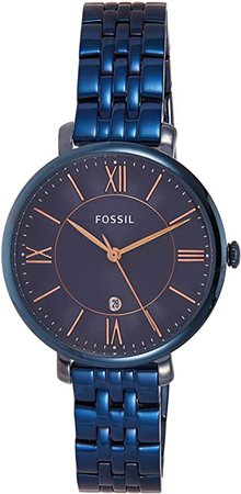 Fossil Women's Quartz Watch with Stainless-Steel Strap, Blue, 14 (Model: ES4094): Fossil: Watches