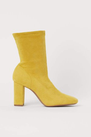 Sock Boots - Yellow