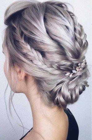 Updo, Silver hair