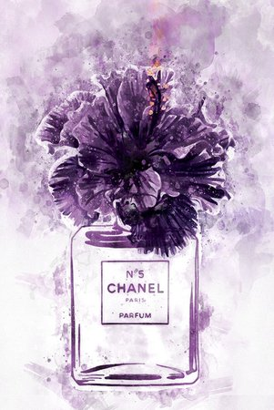 chanel with purple theme perfume - Google Search