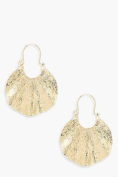 Erin Pleated Plate Earrings