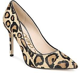 Women's Hazel Pointed Toe Leopard Print Calf Hair High-Heel Pumps