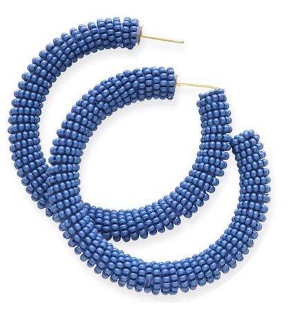 Blue hoop earrings Ink and Alloy