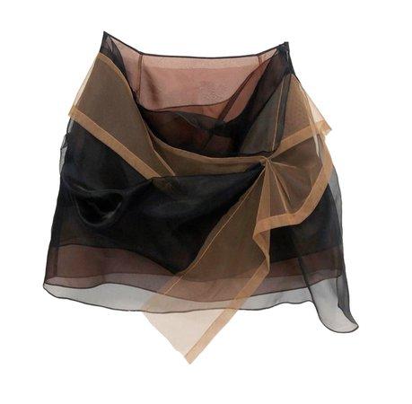 browns mesh skirt