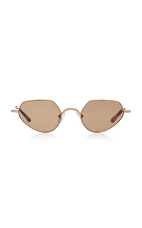 Dries Van Noten Round Stainless Steel Sunglasses