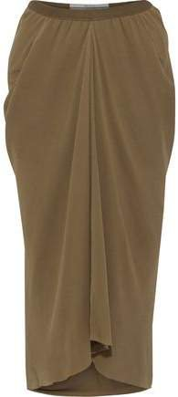 Kite Gathered Silk-chiffon Midi Skirt