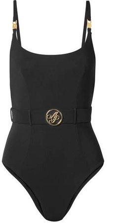 Laurella Belted Swimsuit - Black